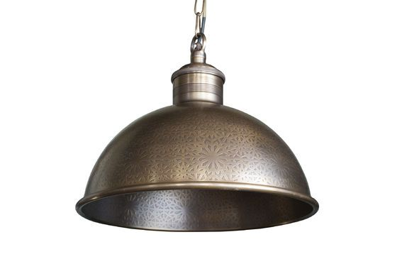 Orient Express engraved metal pendant lamp Clipped