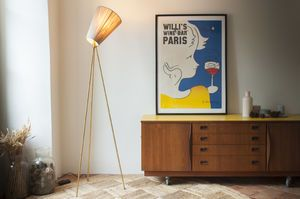 Oslo Wood Tripod Floor Lamp