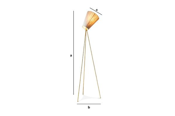 Product Dimensions Oslo Wood Tripod Floor Lamp