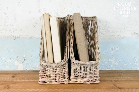Pair of files' storage box Chloé