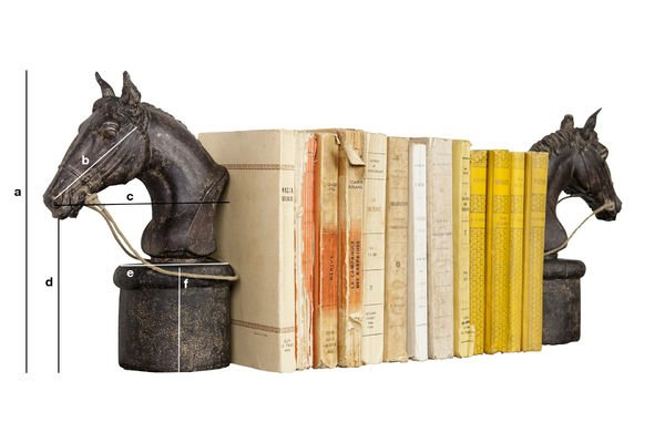 Product Dimensions Pair of hippique bookends