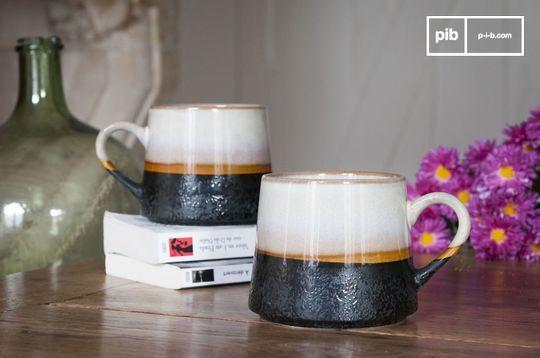 Pair of large Ceramix Cups
