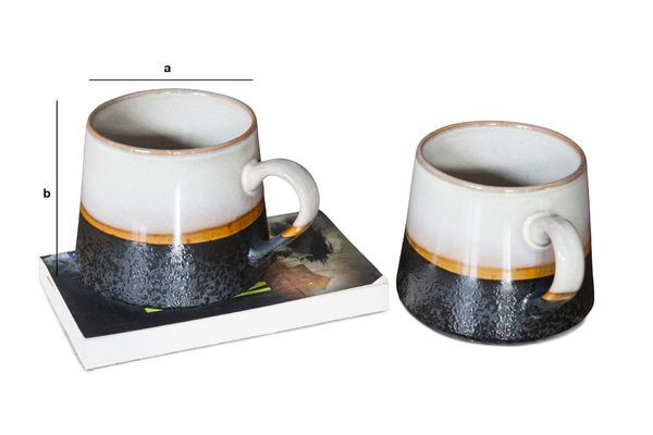 Product Dimensions Pair of large Ceramix Cups