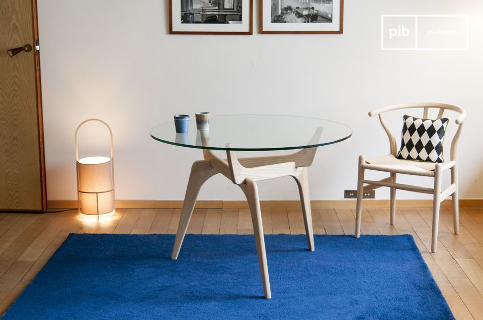 Parkano glass round table