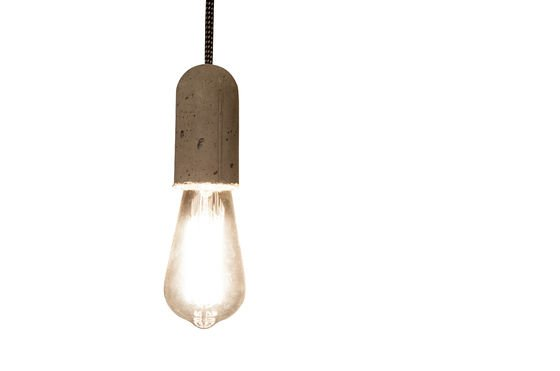 Pendant light NUD Cement Clipped