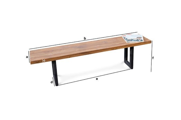 Product Dimensions Peterstivy bench