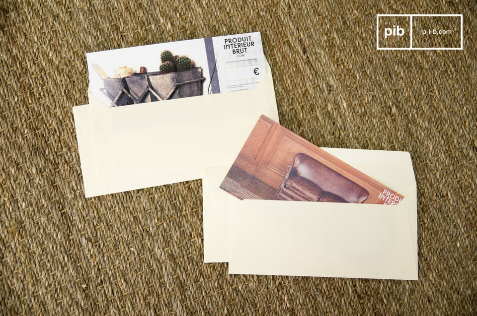 Wood turns into paper. The PIB Gift Voucher turns into a smile.