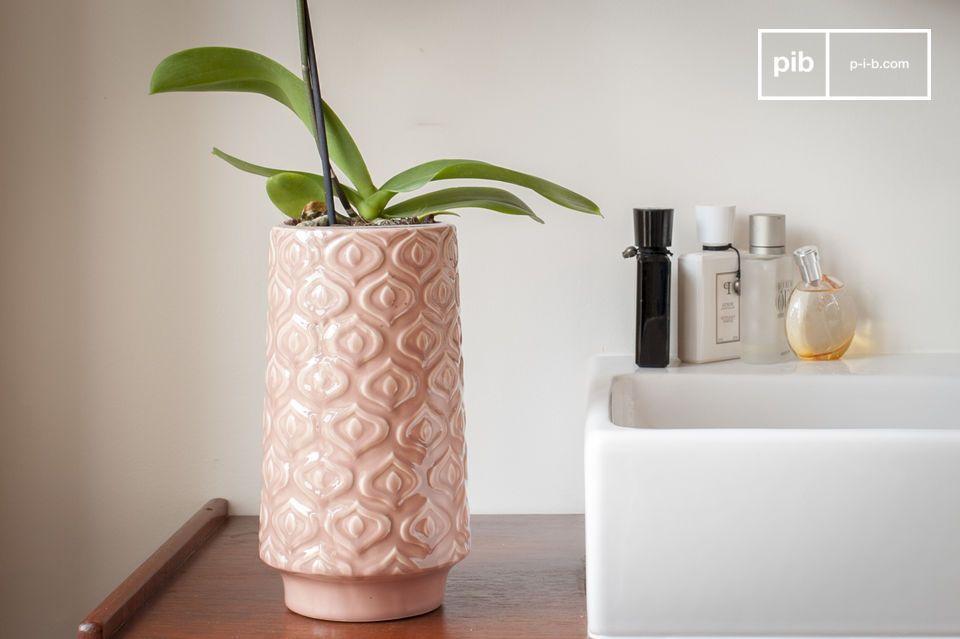 Pink ceramic vase Aurora