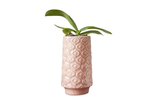 Pink ceramic vase Aurora Clipped