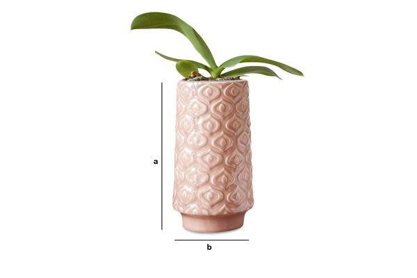 Product Dimensions Pink ceramic vase Aurora