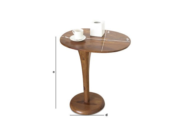 Product Dimensions Piwy monopod occasional table