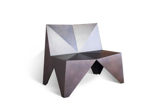Polygonal Metal Armchair Clipped