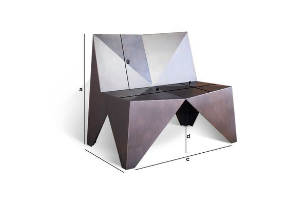 Product Dimensions Polygonal Metal Armchair