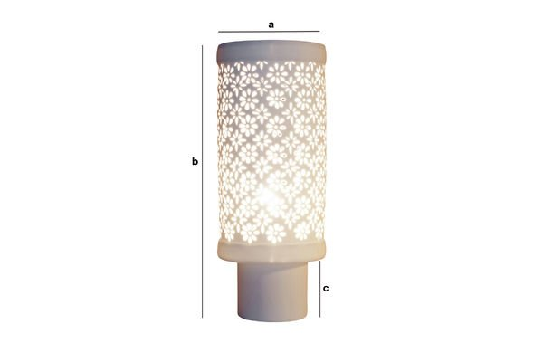 Product Dimensions Porcelain Lamp