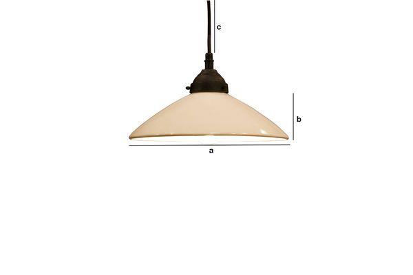 Product Dimensions Pornic ceramic suspension lamp