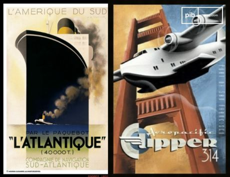 Posters of mass travel that pride on the man-made machines