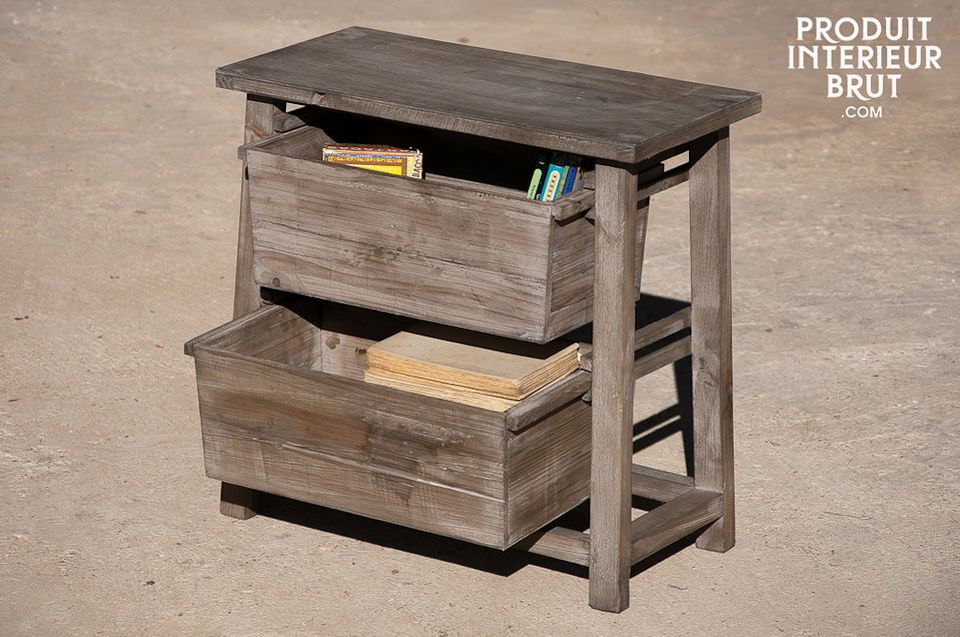Posty Street stool with shelves