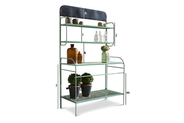 Product Dimensions Potting shelf table