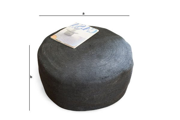 Product Dimensions Pouf Sissal