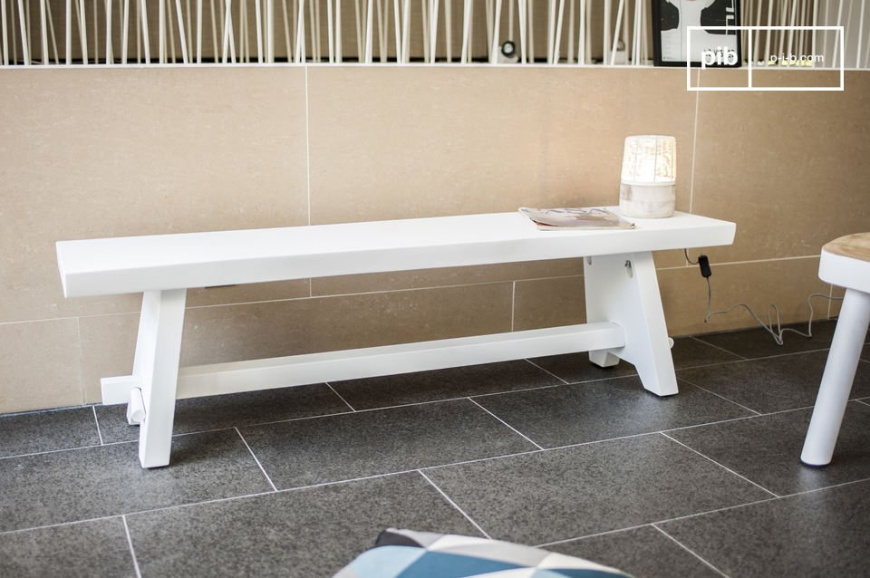 The Pyka bench seat is a bright Scandinavian design that will fit perfectly in any interior