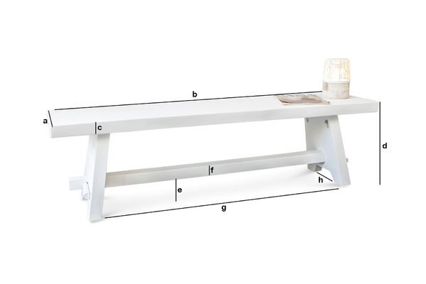 Product Dimensions Pyka Bench