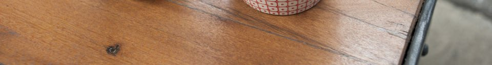 Material Details Railroad cart coffee table