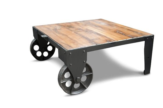 railroad cart coffee table robust full of character pib. Black Bedroom Furniture Sets. Home Design Ideas