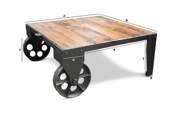 Product Dimensions Railroad cart coffee table