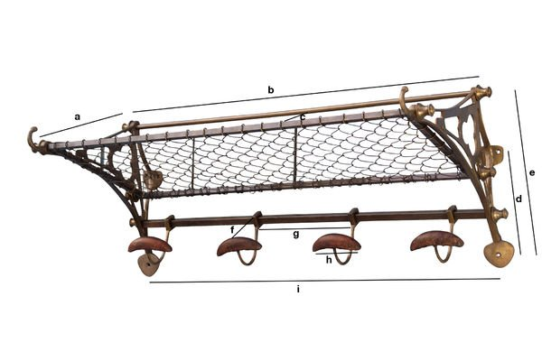 Product Dimensions Railway carriage wall rack
