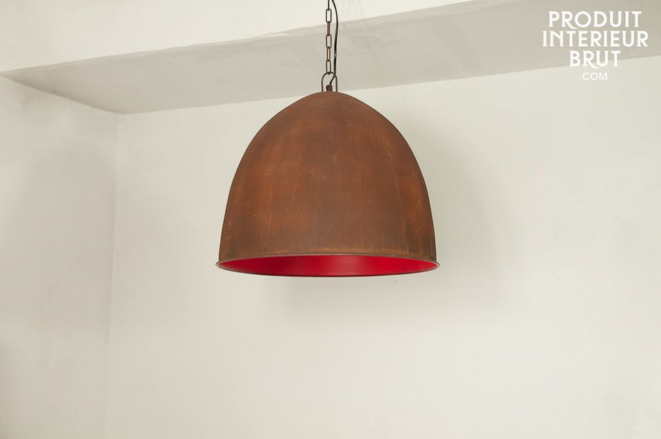 Raspberry Steel pendant light