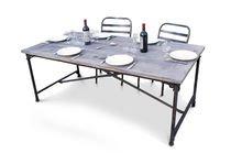 Reclaimed elm wallpapering table