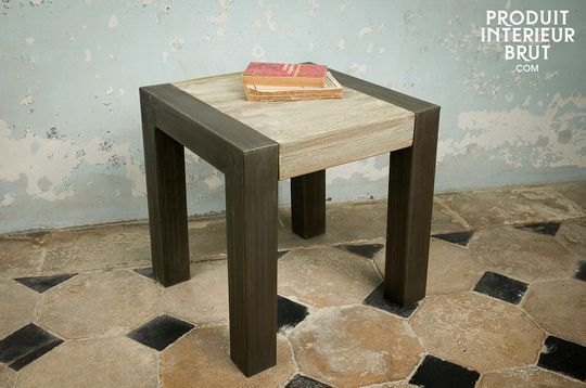 Reclaimed teak occasional table