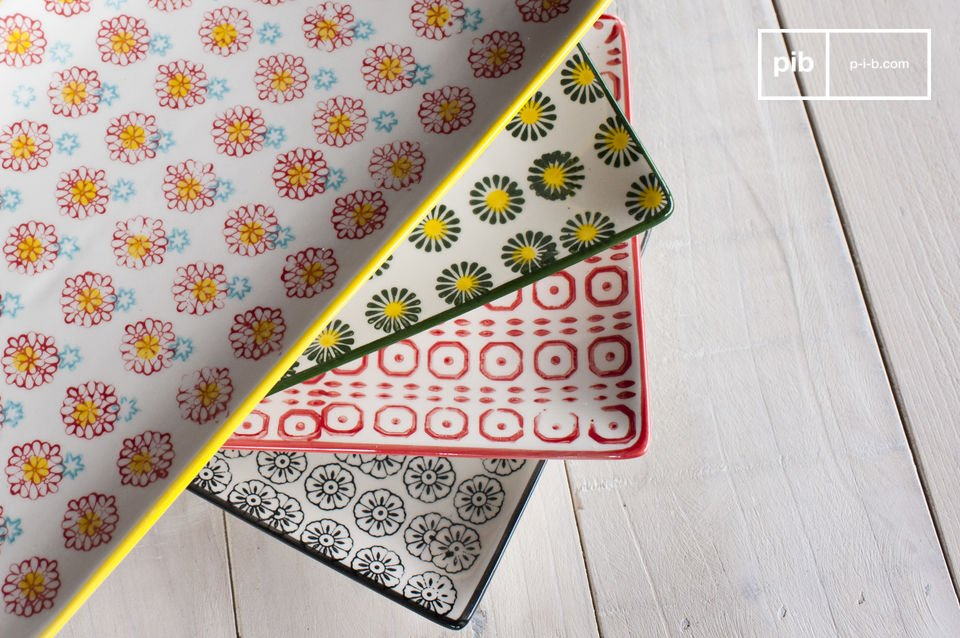Retro charm of coloured motifs