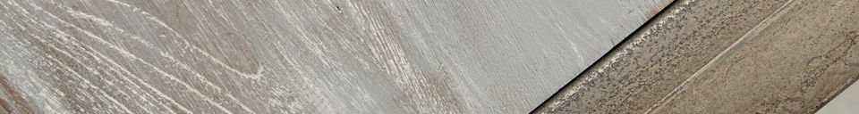 Material Details Recycled teak dining table