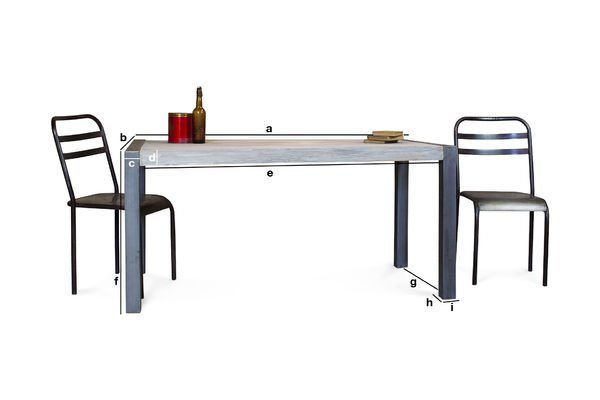 Product Dimensions Recycled teak dining table