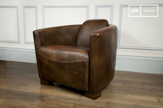 Red Baron leather armchair