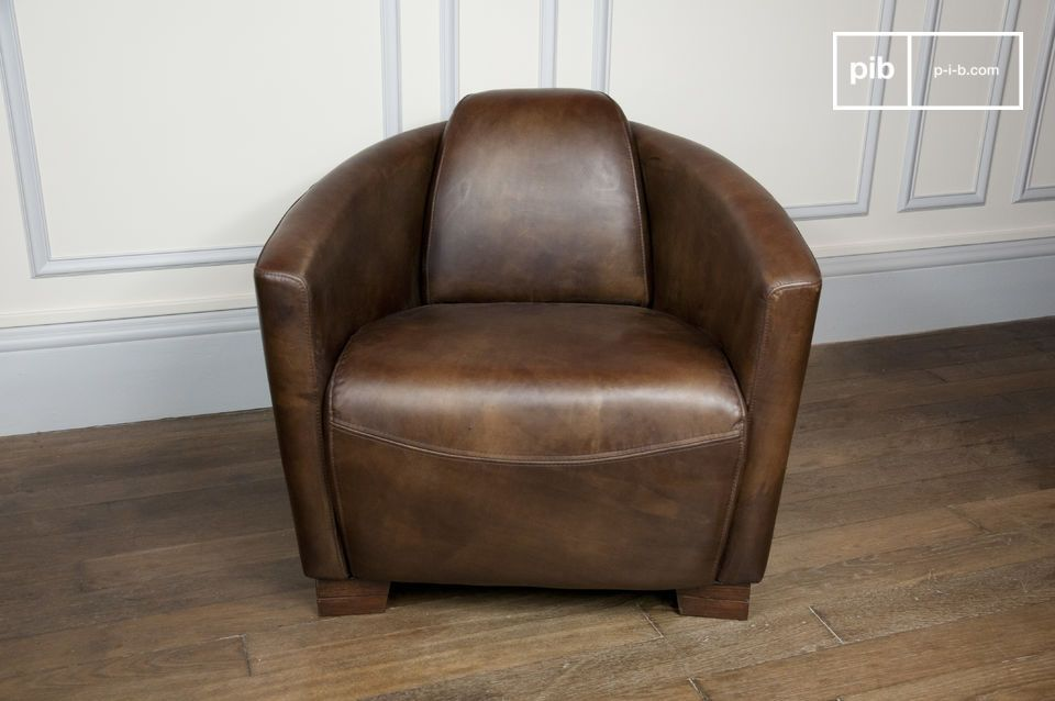 this industrial chair has the atmospheric feel of aviator leather armchairs