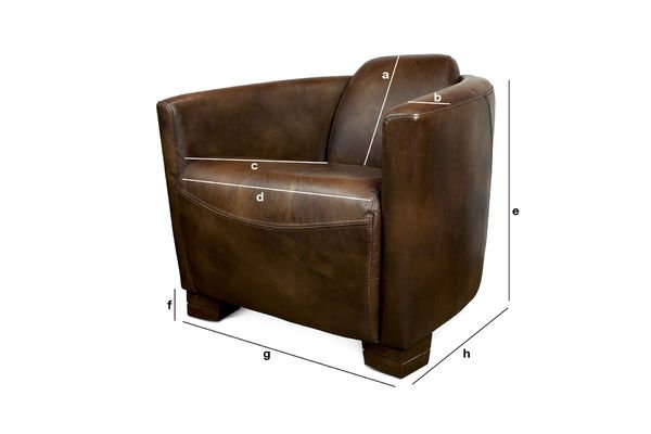Product Dimensions Red Baron leather armchair