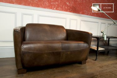Red Baron leather sofa