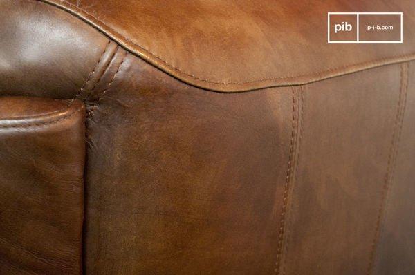 Red baron leather sofa