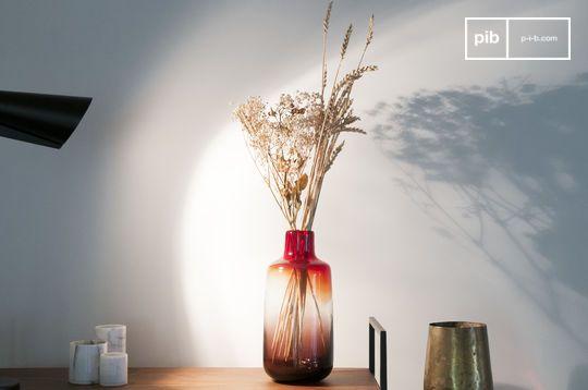 Red Glass Vase Bobby