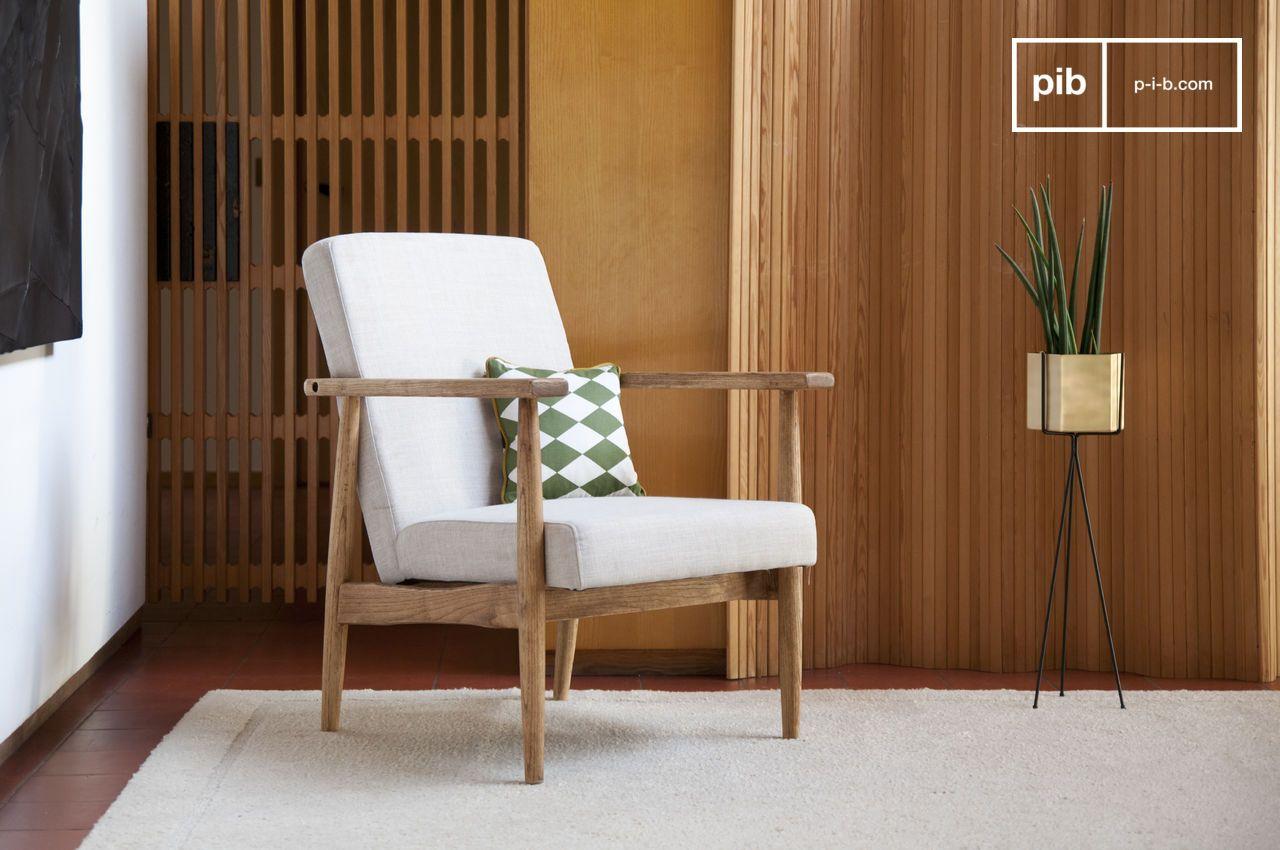 Retro armchair Agnès - Neat and straight lines | pib