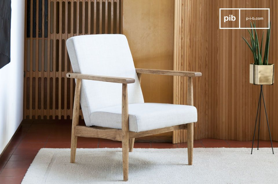 Attrayant Retro Armchair Agnès. Purity, Comfort And Natural Wood