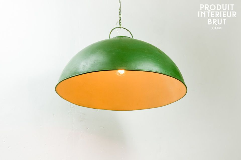 Retro green industrial ceiling light