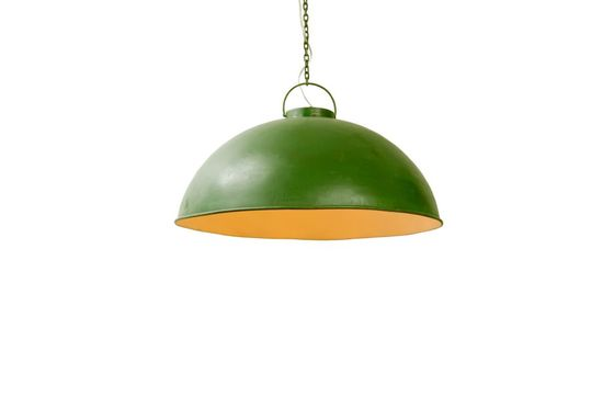 Retro green industrial ceiling light Clipped