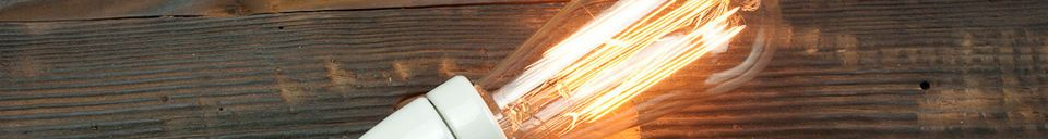 Material Details Retro lightbulb with a long filament