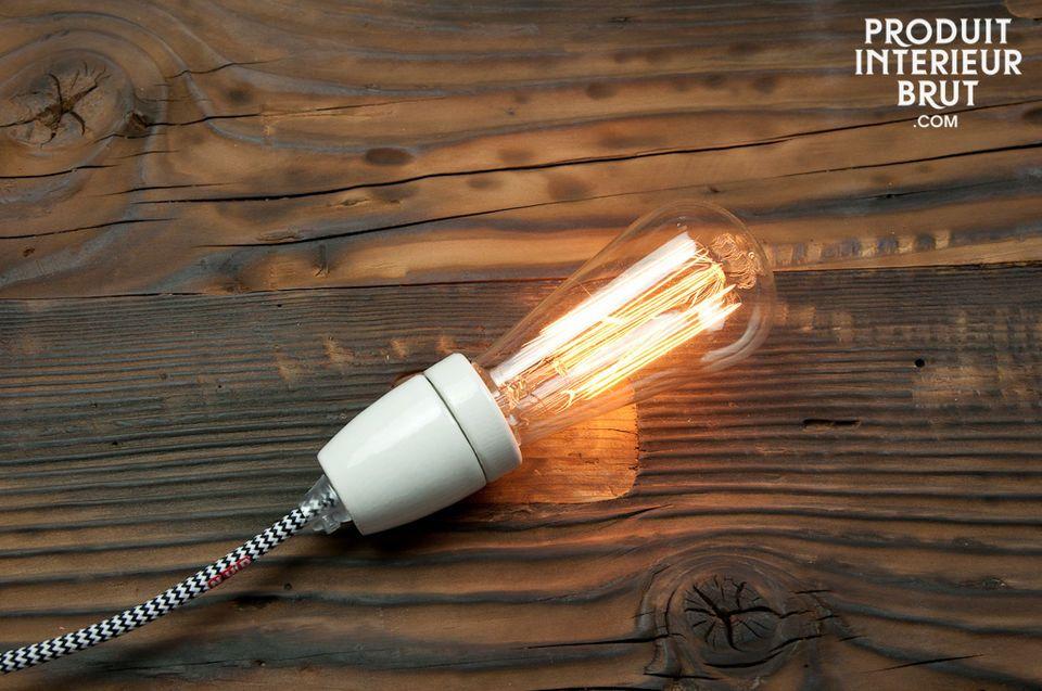 Vintage lightbulb charm, with longer life expectancy