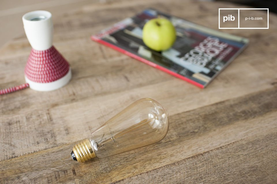 A charming vintage style lightbulb