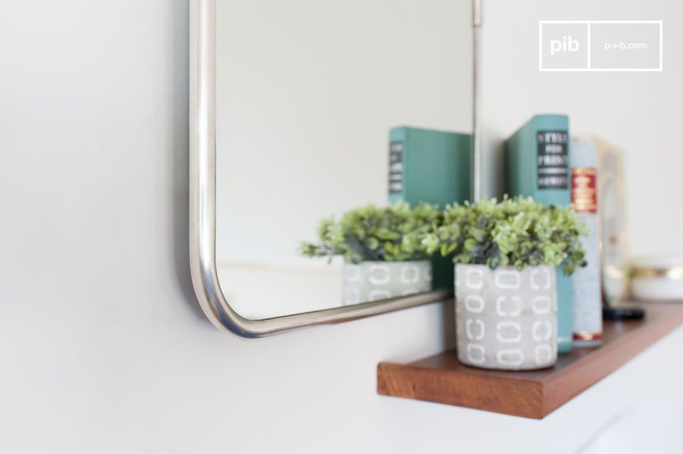 A beautiful rectangular mirror
