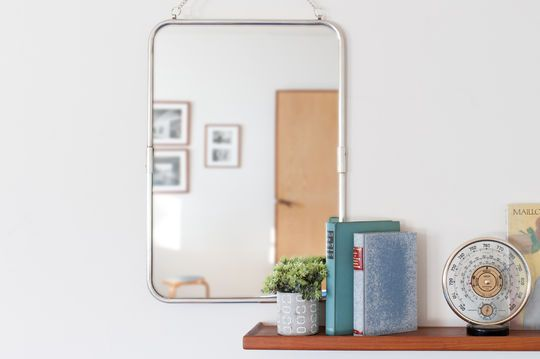 Retro mirror with silver frame Sonia